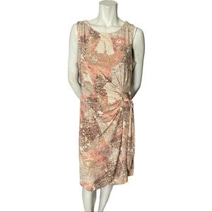 DKR Pink and Beige Stretchy Sleeveless Dress   L
